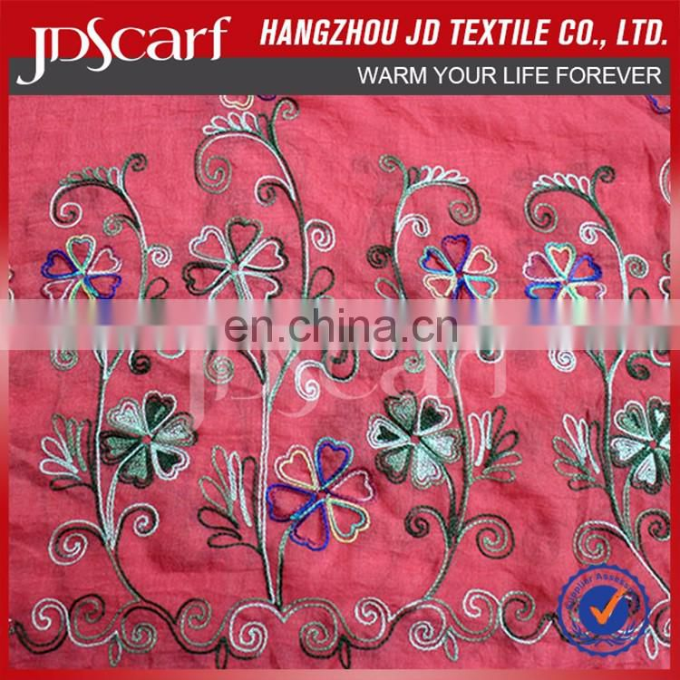 New Products For Custom Digital Printing Soft Embroidered latest scarf designs