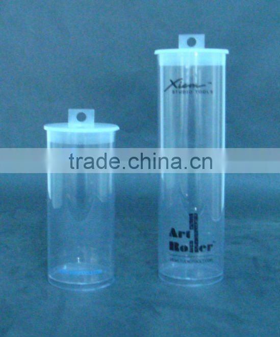 Plastic packaging for hair extensions, custom Plastic clear hair extension packaging box/tube made of PP/PET/PVC