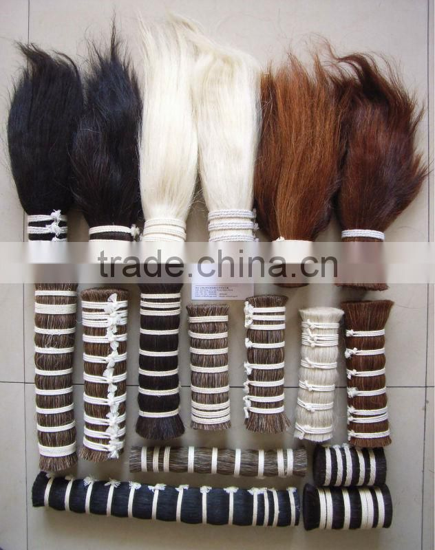 Horse mane hairs and horse tail hairs