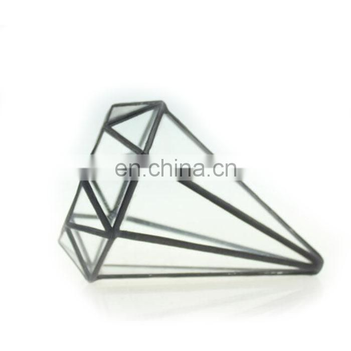 terrarium glass geometric terrarium plants for house decoration