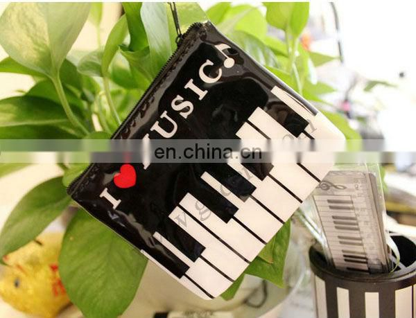 Music Notes Printed PU Wallets With Zipper