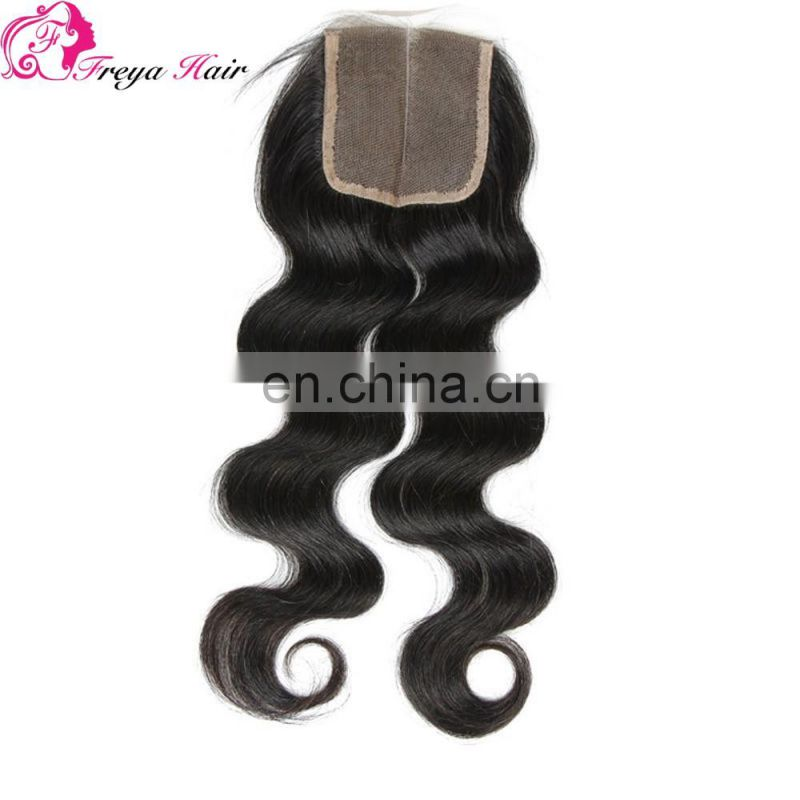 Alibaba brazilian virgin hair body wave lace closure bleached knots