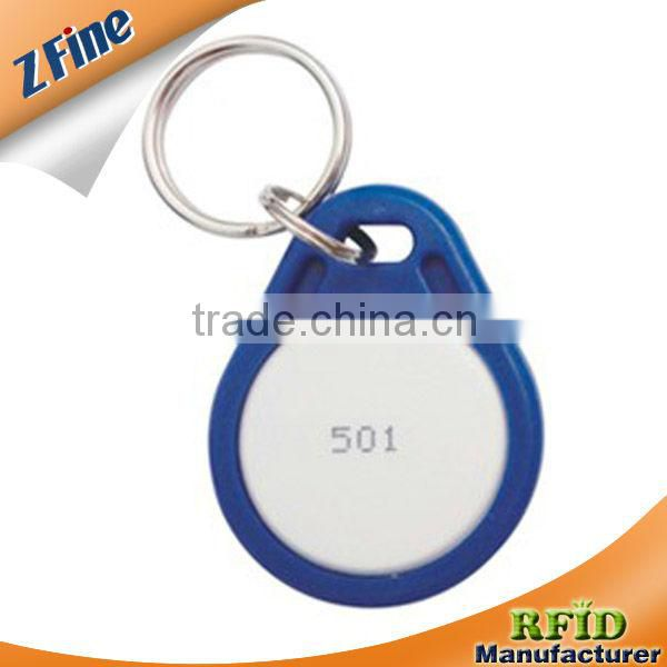 RFID tag LF HF ABS Keyfob /nfc key tag/plastic key chains for gyms/club members and fitness centers