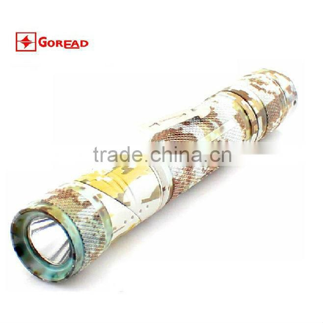 Goread Four-color camouflage bend head LED mini flashlight