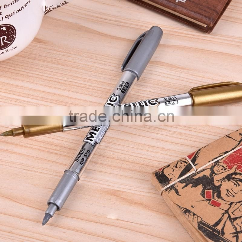 Colored Ink Color and Permanent Ink Type water based metallic marker pen