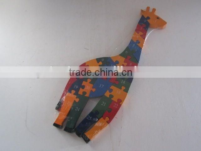 Educational Toy Colorful Wooden Puzzle/Giraffe Shaped Building Blocks