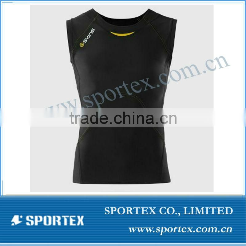 compression gym top / high quality compression top for men / compression shirt