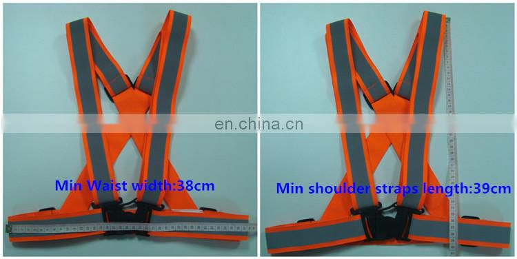 Traffic warning security working running Reflective Elastic Safety Belt