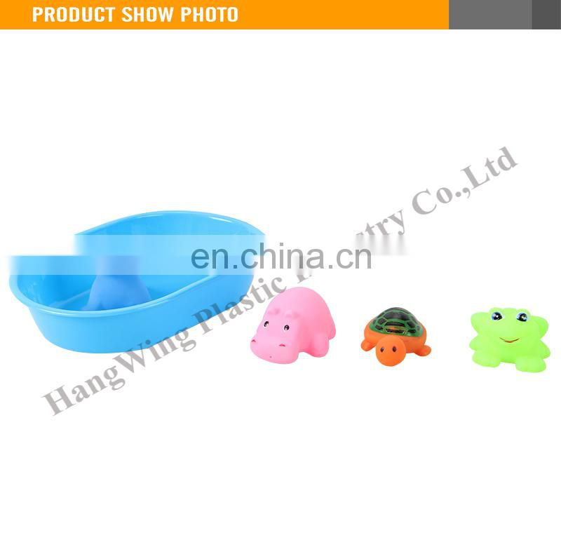 4PCS Kids Swim Bath Animal Soft Vinyl Toys