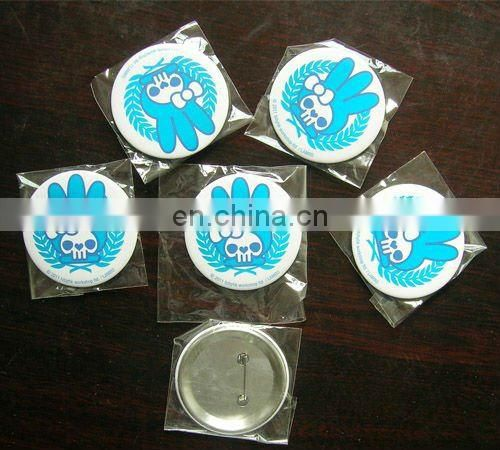 Technology logo tinplate button badge