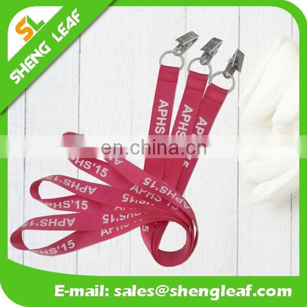 High quality cheap custom lanyards with logo no minimum order