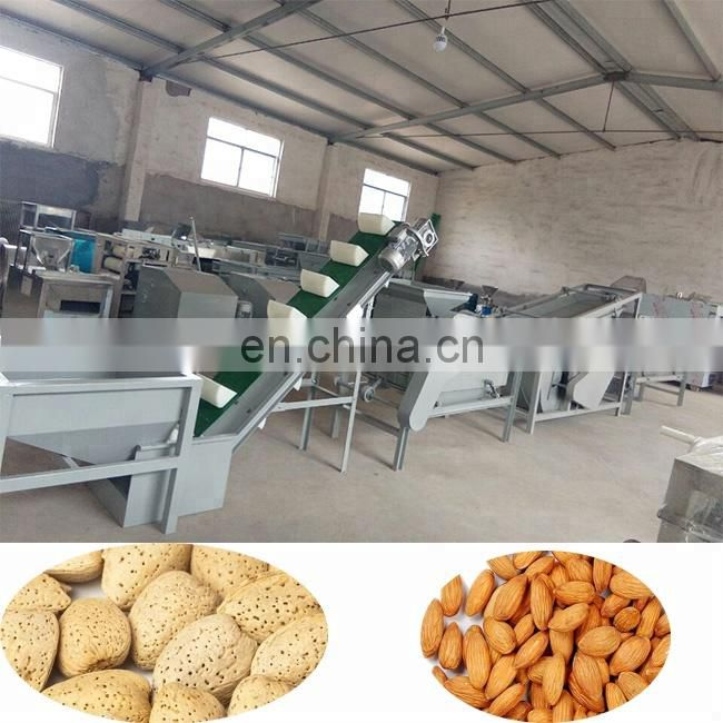 almond cracking shelling machine with almond separating machine