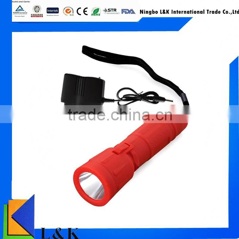led rechargeable torch/rechargeable led flashlight