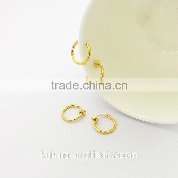 13 mm Wide Spring on Loaded Fake Nose & Lip Ring