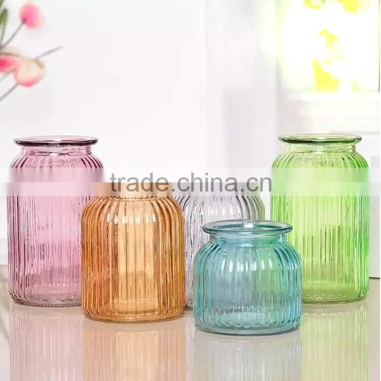 Cheap Cylinder Colored Wholesale Glass Vases for Centerpieces