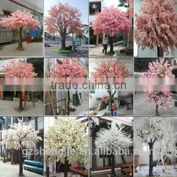 SJ201710040 China manufacturer artificial table mini pudding flower blossom tree for wedding