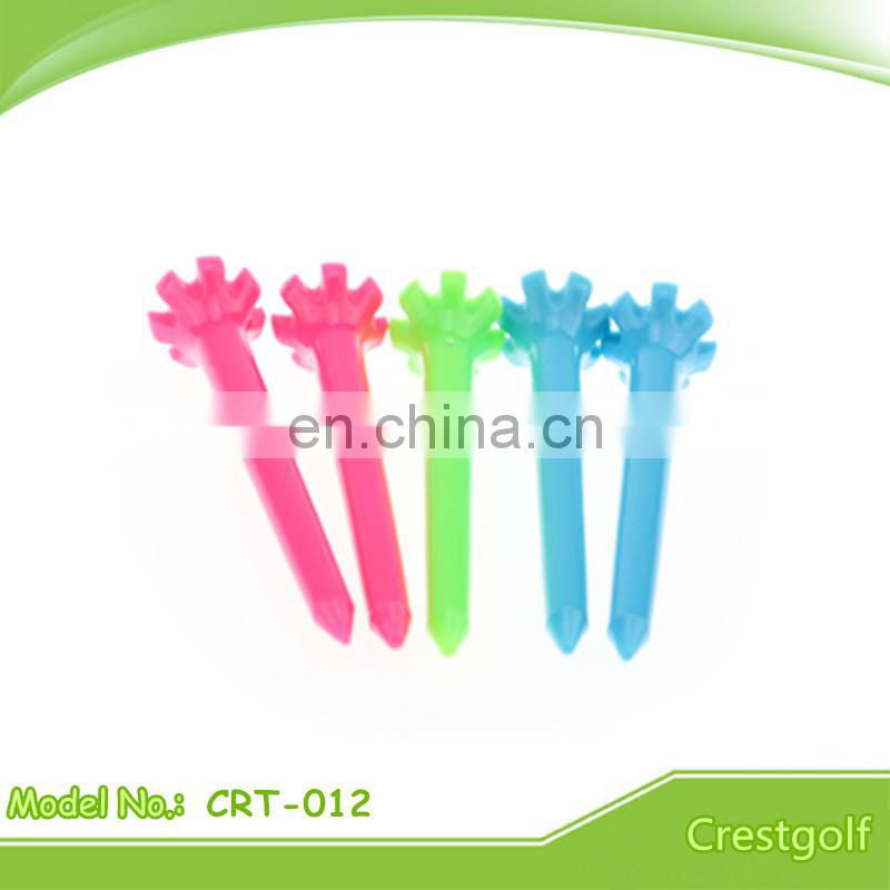 Hot-selling Zero Friction 7 Prong Plastic Golf Tees