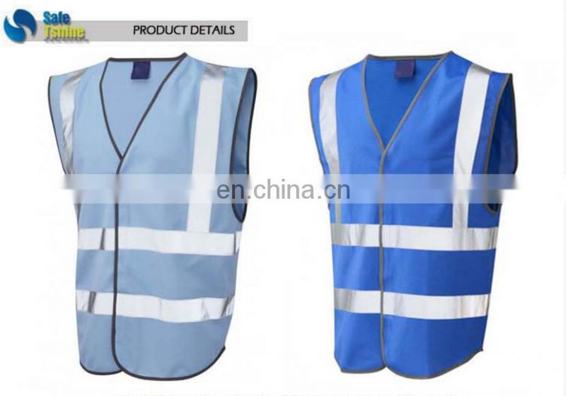 Special design widely used blue high visibility vest