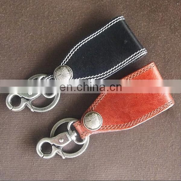 PROMOTIONAL FACTORY SALE VINTAGE STYLE KEYCHAIN LEATHER