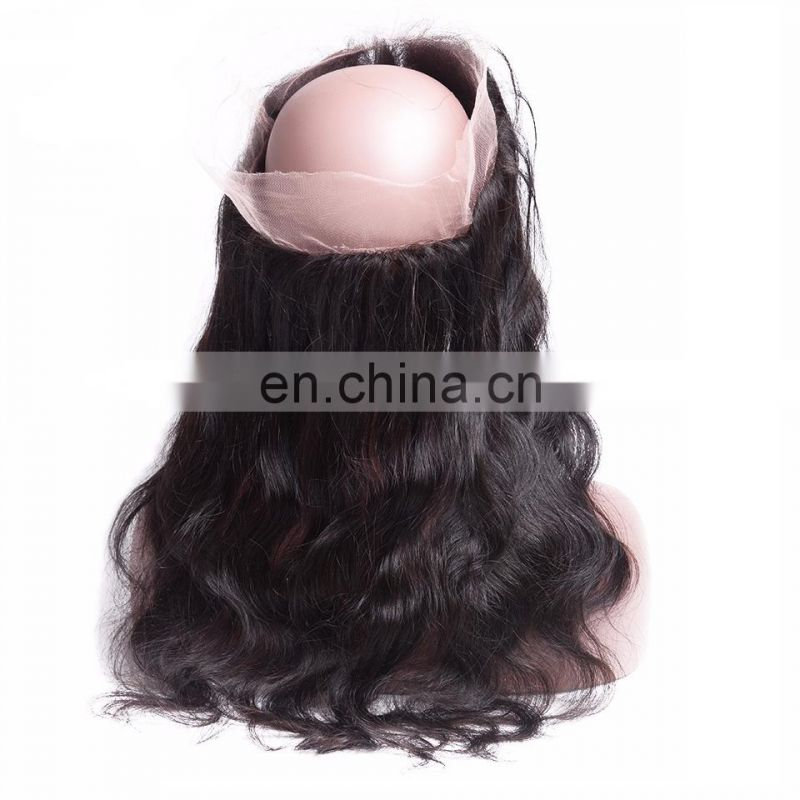 cheap human hair round 360 lace frontal closure with Baby hair Brazilian Virgin Hair For Black Women