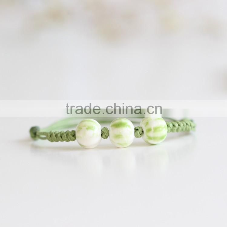 Japanese and Korean Style Jewelry Smart People Fashion Trends Shiny Bracelet Series green white quality cheap girls bangles