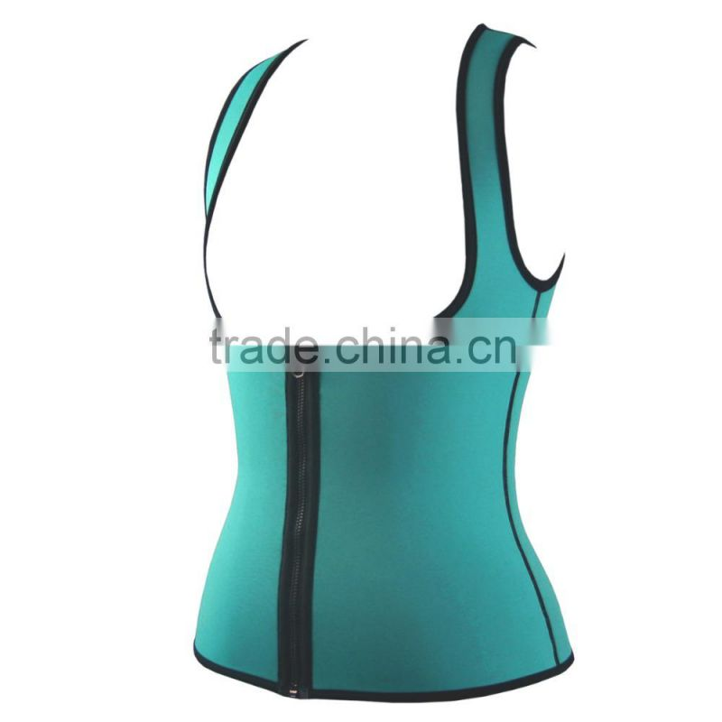 LJVOGUES New Arrivals Body weight loss waist cincher body trainer tummy trimmer neoprene slimming Zipper Vest ceinture minceur