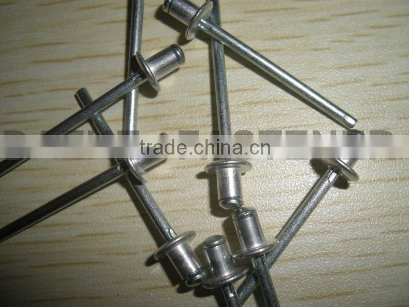 open round head aluminum steel blind rivet