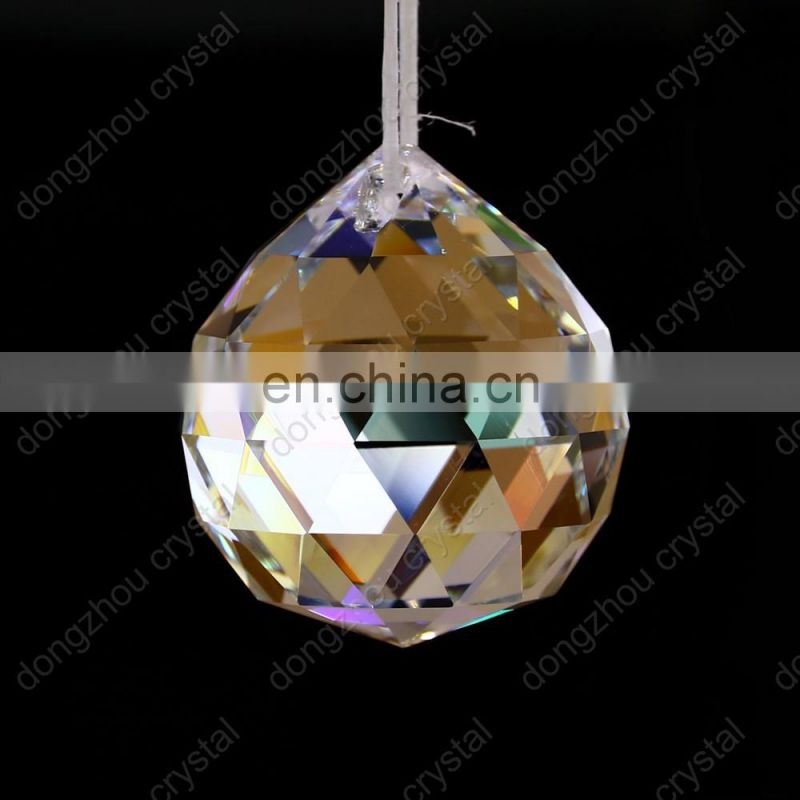 Clear crystal color glass ball crystal parts for chandeliers