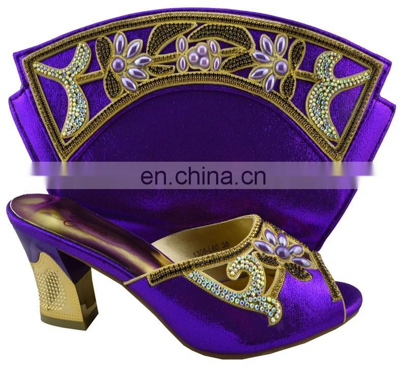 2016 italian shoe and bag set /wedding shoe wholesale shoe and matching bag