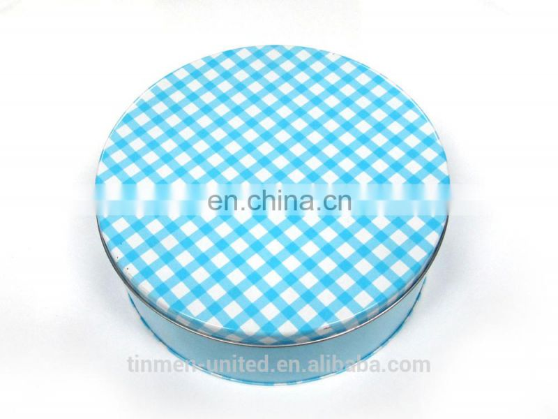 Small Round Tin Box for Cookie