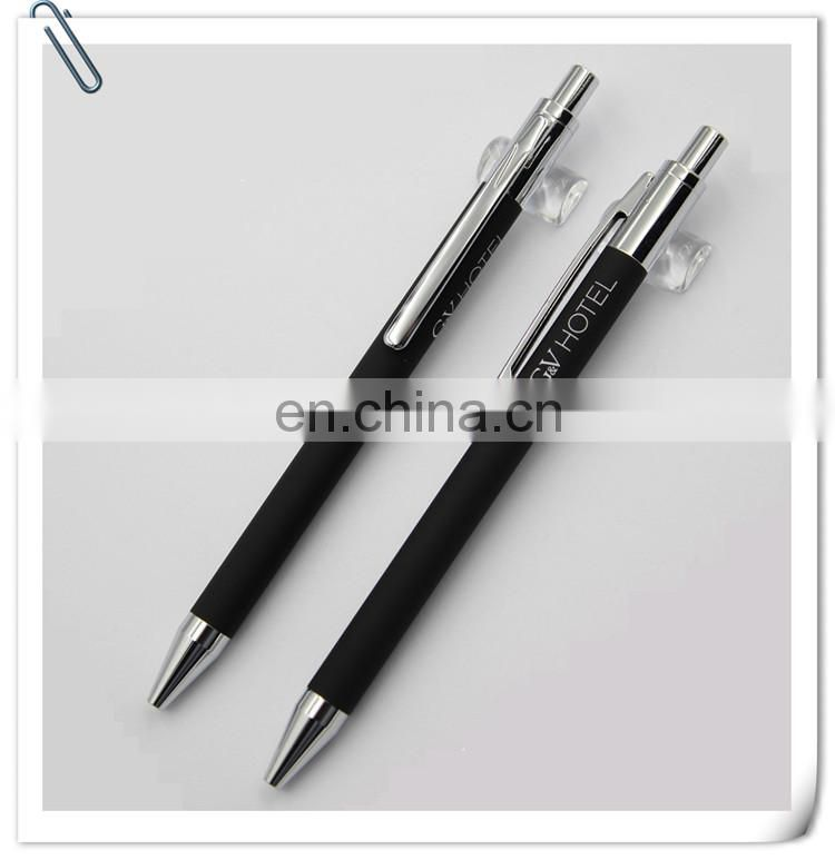 novelty luxury promtion gift diamond ring metal ball pen