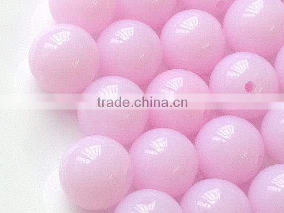 2014 lovely Chunky Acrylic Jelly beads 20mm wolesale for little girls jewelry