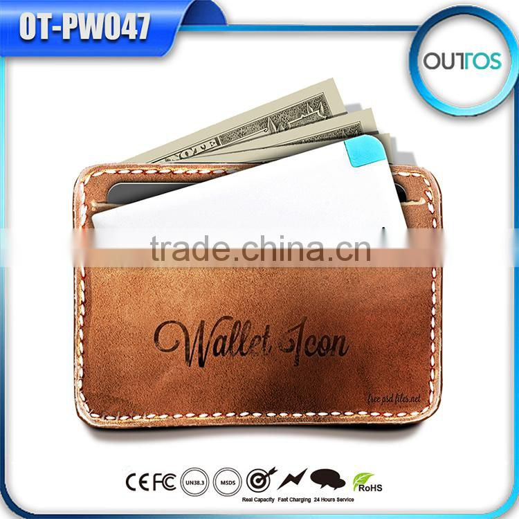 Credit card size power bank for gift