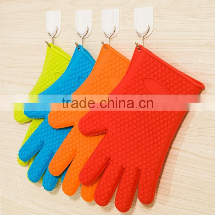 heat-resisting silicone gloves&microwave gloves