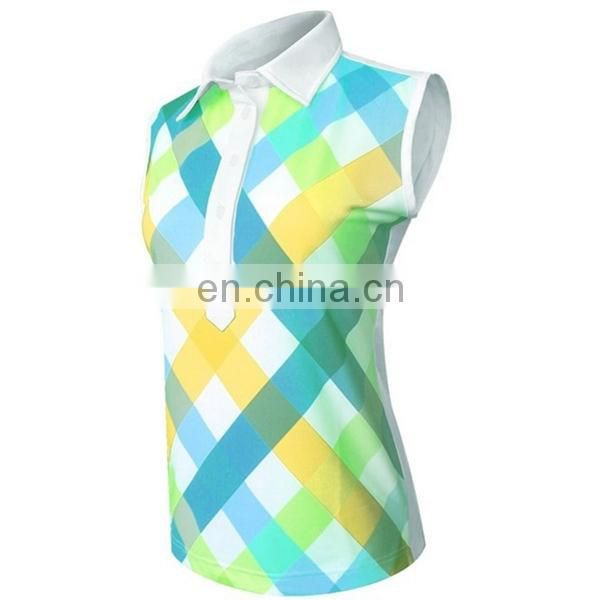Custom full sublimated women golf shirts ladies polo clothing