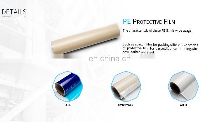 For house windows use protective PE Film