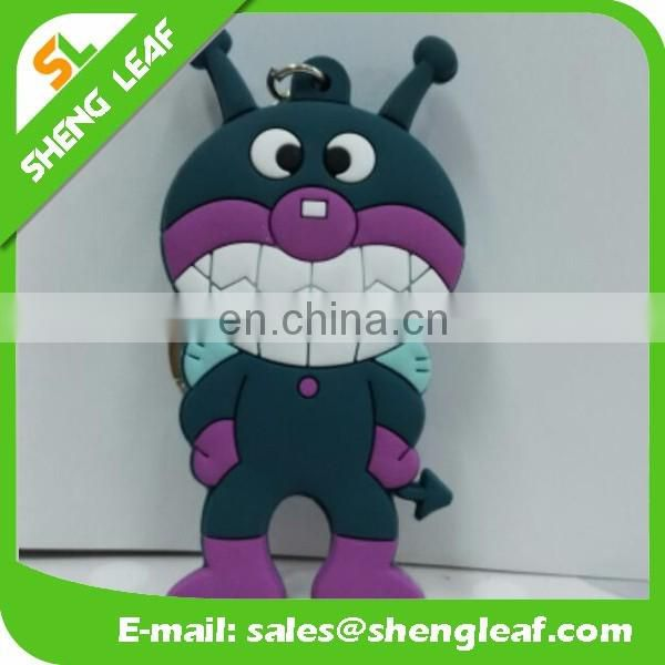 Cheap Soft Rubber Keychain Custom 3D cartoon design