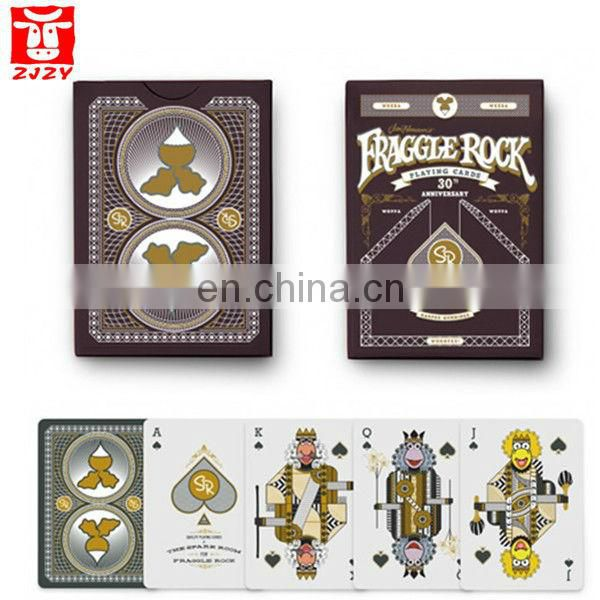 custome plastic coated playing card