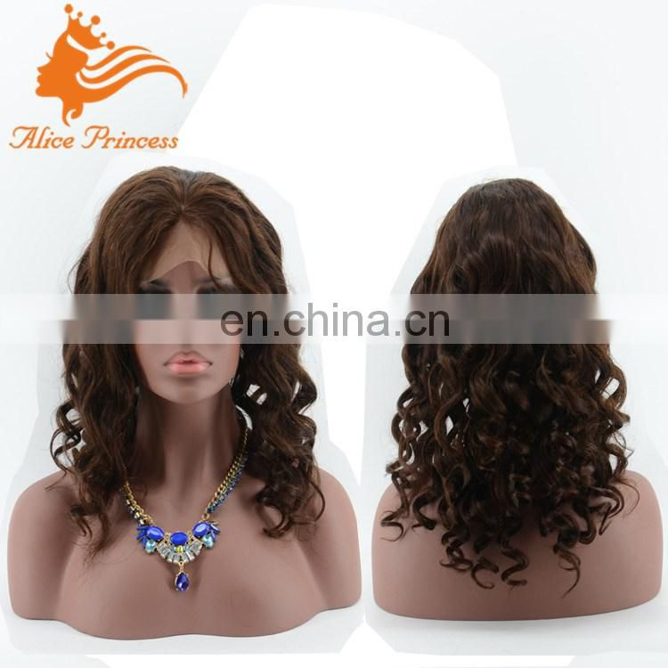 Ideal Style 10A Grade Body Wave Human Hair Silk Top Jewish Wig Glueless Full Lace Wig