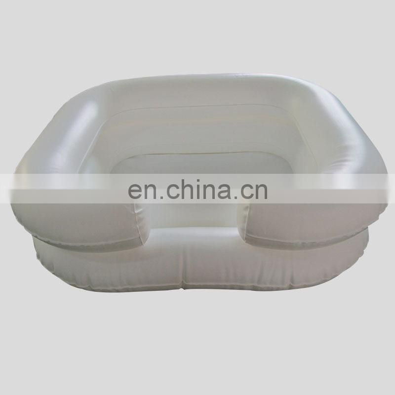 Plastic inflatable hair wash basin pool