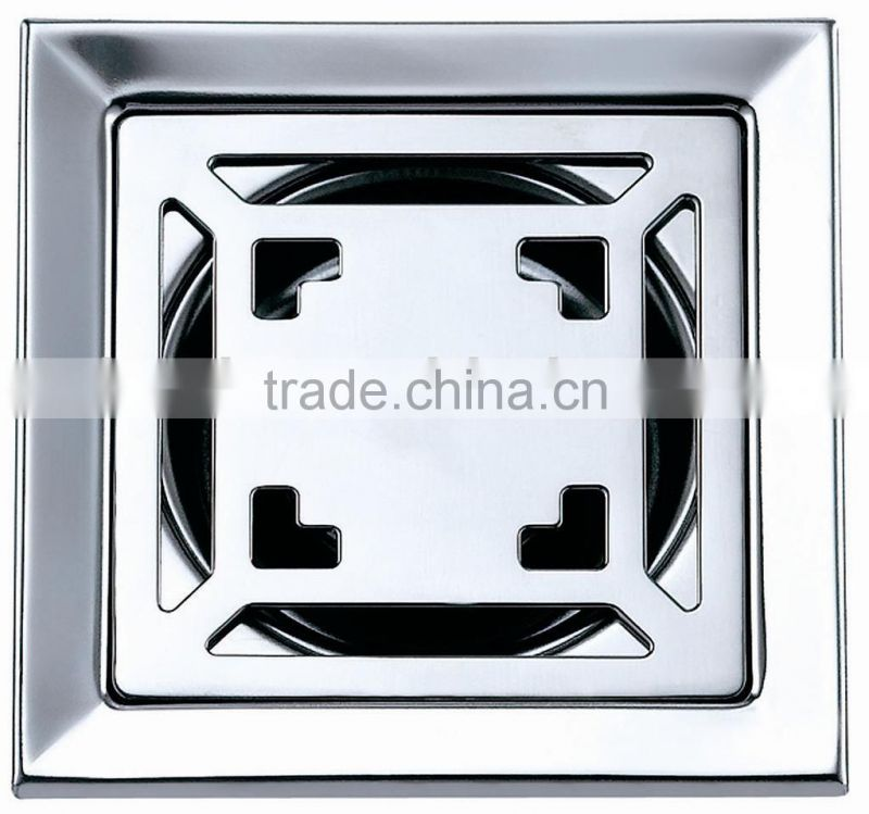 High quality Stainless steel floor drain,square shape 100*100mm,mirror polished drainer,B2132-1 Image