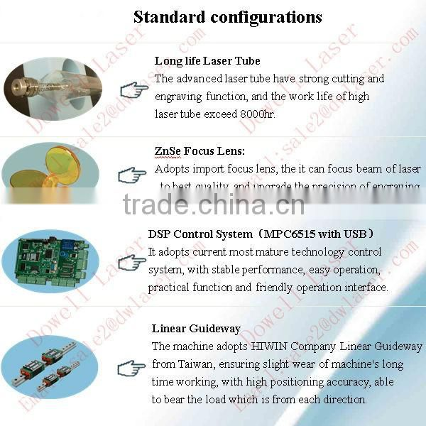 Jinan manufacturer new condition CO2 laser cutting and engraving machine with rotary device and water cooling