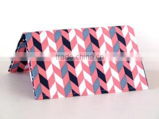 coral and navy chevron classic checkbook covers