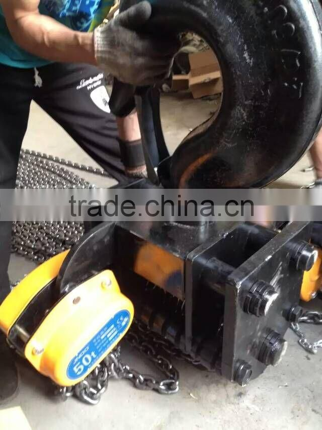 best price manual chain hoist / hand chain pulley block / manual chain block 100ton