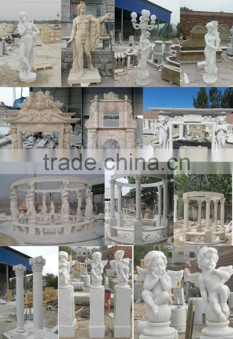 Norton european design hand carved marble fireplace frame NTMF-F815A
