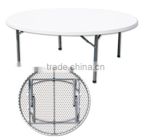 6FT wholesale white folding plastic round table