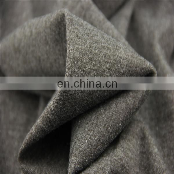 interlock Wholesale cotton jersey knit with spandex plain dyed high quality fabric
