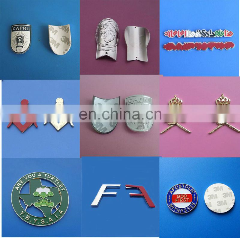 custom letter F metal emblem stickers for cars