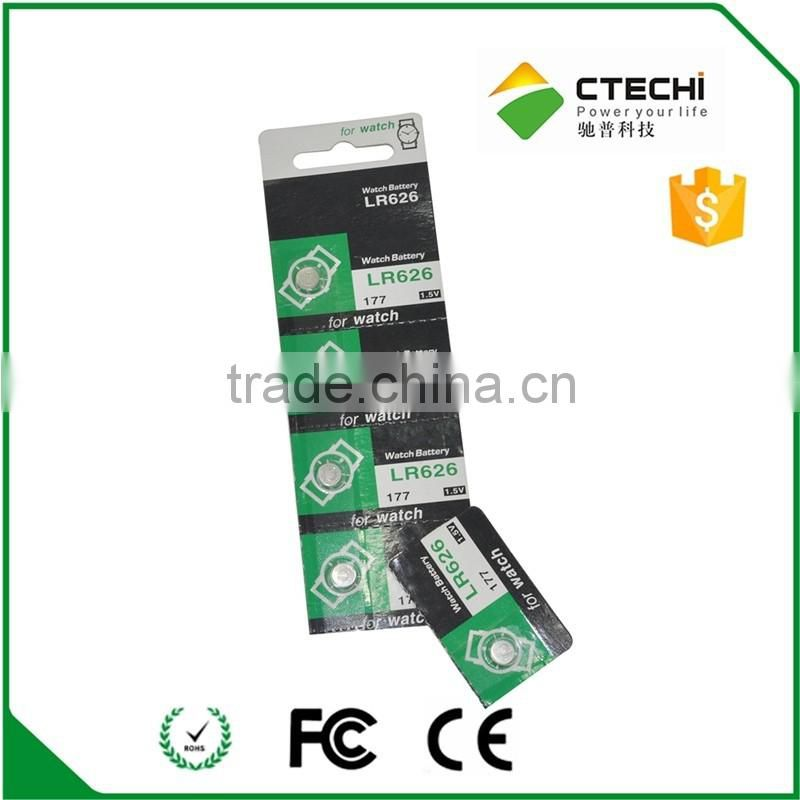 0 mercury alkaline battery LR626/177/AG4 non rechargeable battery