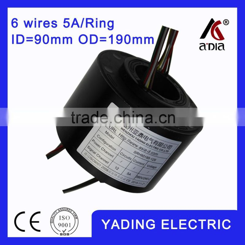 SRH 90190 12s electrconic slip ring 90mm. OD190mm. 12Wires, 5A 12 wires